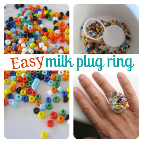 easy milk plug ring craft for kids