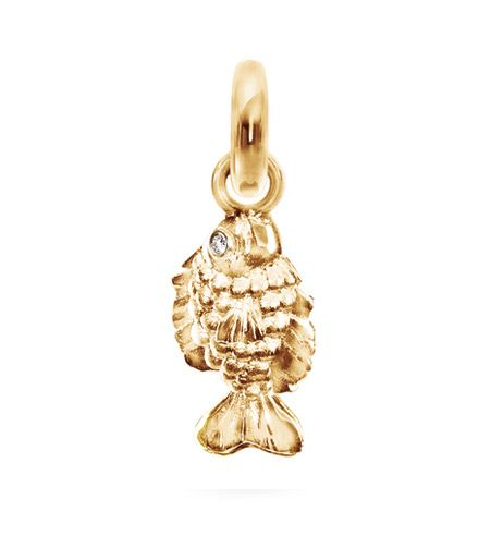 Ole Lynggaard Copenhagen My Friend Fish charm (small) 18ct yellow gold with diamond eyes - Kennedy Jewellers