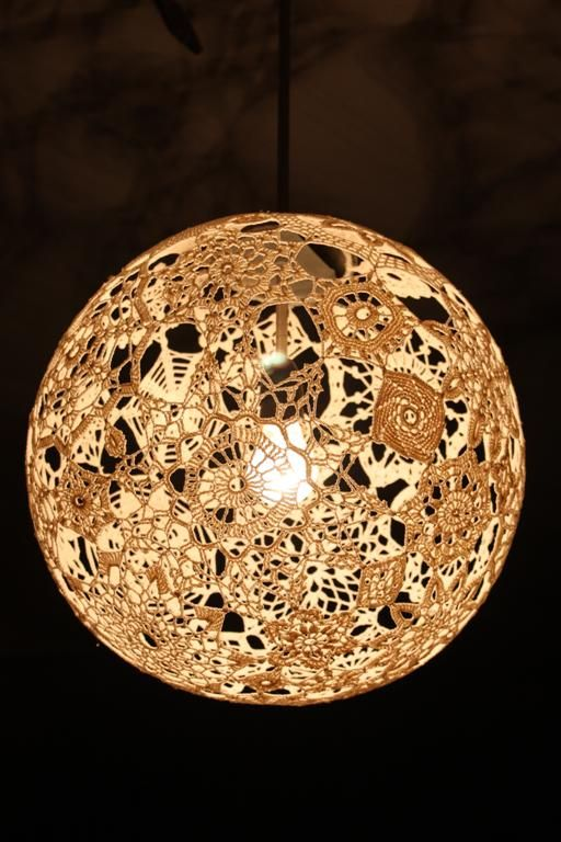 Lamp shade I crocheted.