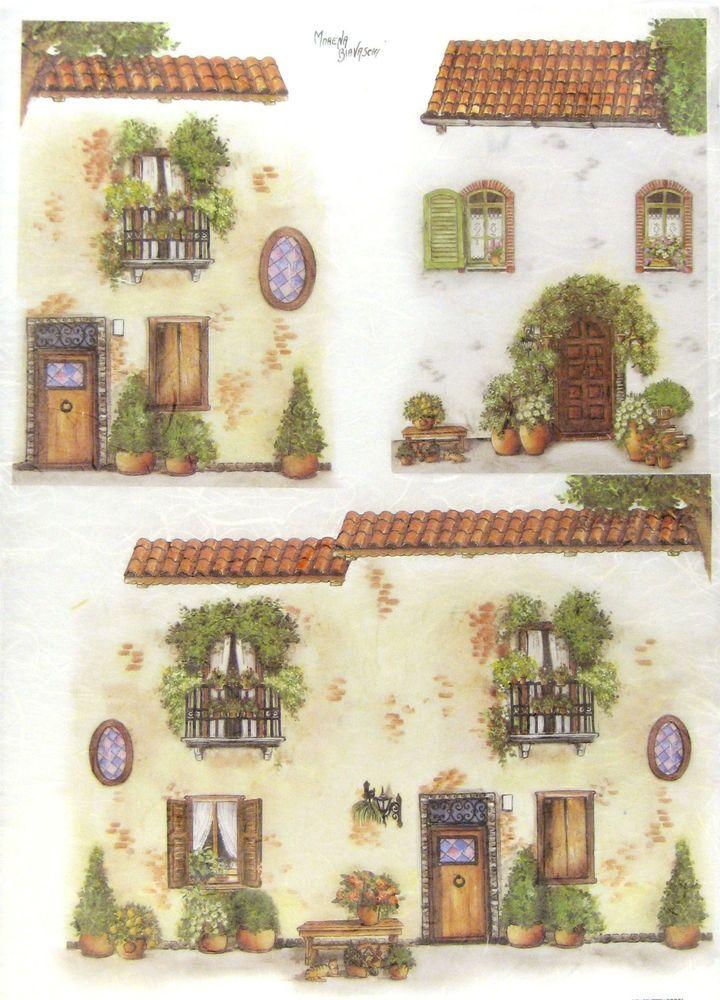 Ricepaper/ Decoupage, Scrapbooking Sheets / Craft Paper Windows