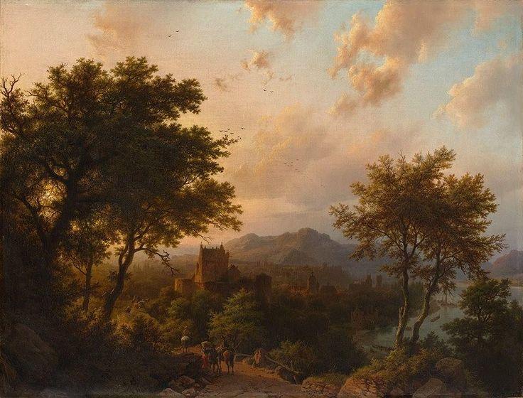 """Sunset on the Rhine"" (1853) By Barend Cornelis Koekkoek (Dutch, 1803–1862) oil on canvas; 81.9 x 107.6 cm; 32 1/4 x 42 3/8 in. © The Metropolitan Museum of Art, New York Catharine Lorillard Wolfe Collection, Bequest of Catharine Lorillard Wolfe, 1887 http://bit.ly/1KZaSlL https://www.facebook.com/metmuseum Artist Biography: http://bit.ly/1KZbkjO"