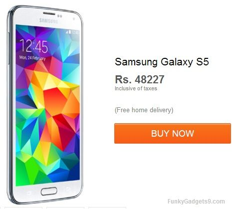 Samsung Galaxy S5 is now available in India for Rs48227