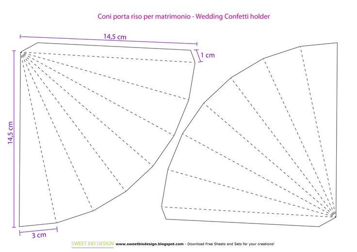 Matrimonio: Coni shabby porta riso/coriandoli - Wedding: shabby confetti holder cones http://sweetbiodesign.blogspot.it/2015/03/matrimonio-coni-shabby-porta.html