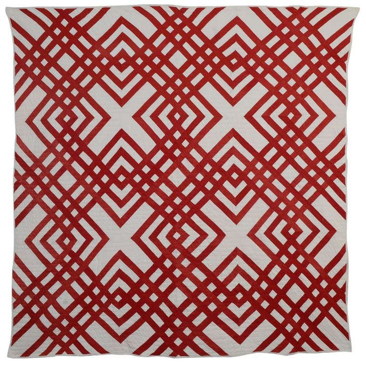 313 best red and white quilts images on pinterest white for Red door design quilts