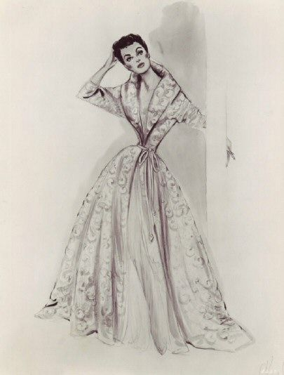 Helen Rose's costume sketches for Torch Song (1953)