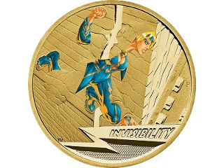 Invisibility $1 uncirculated coin. The 2014 Young Collectors Superpowers series features six coins, each of which portrays an imaginative and exciting design to represent a superpower, with the second exciting release featuring the power of invisibility. #coincollecting