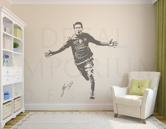 Lionel Messi Argentina Barcelona Soccer Football Leo Wall Decal