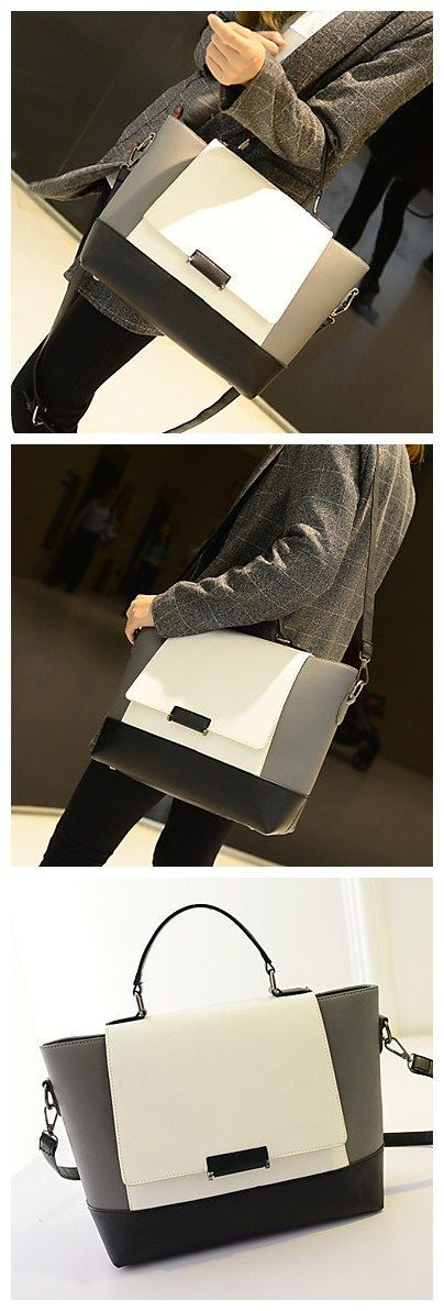 Fashionable Single Shoulder Handbag, this classic color combo handbag can go along with every outfit idea you have in mind.