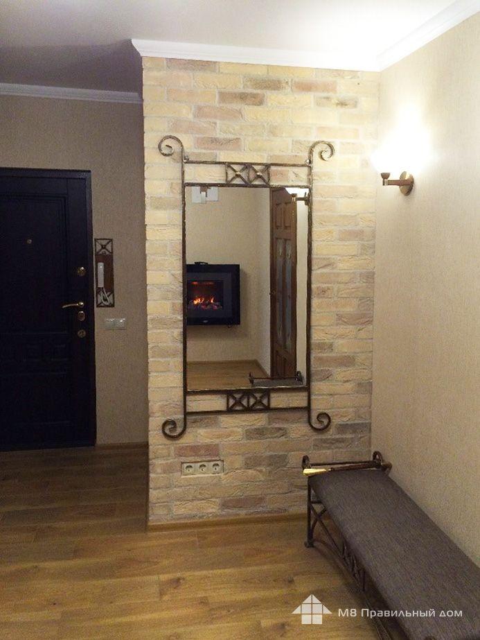 Декоративная плитка под кирпич в интерьере квартиры