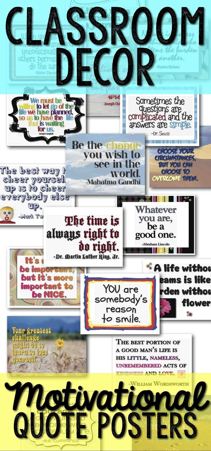 Classroom Decor Posters ~ Best classroom quotes ideas on pinterest inspire
