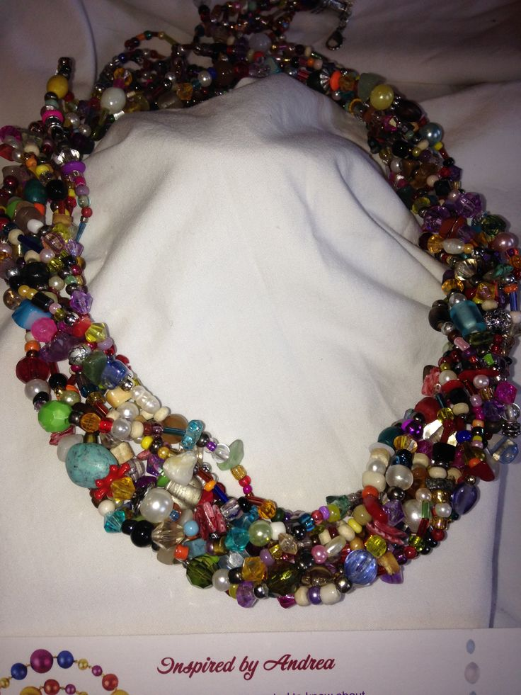 15 laps necklace, made with small colored stones necklace and a practical multi use