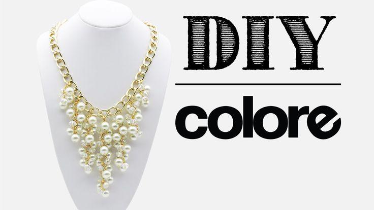 DIY Collar Cadena, Perla y Cristal - Colore Accesorios