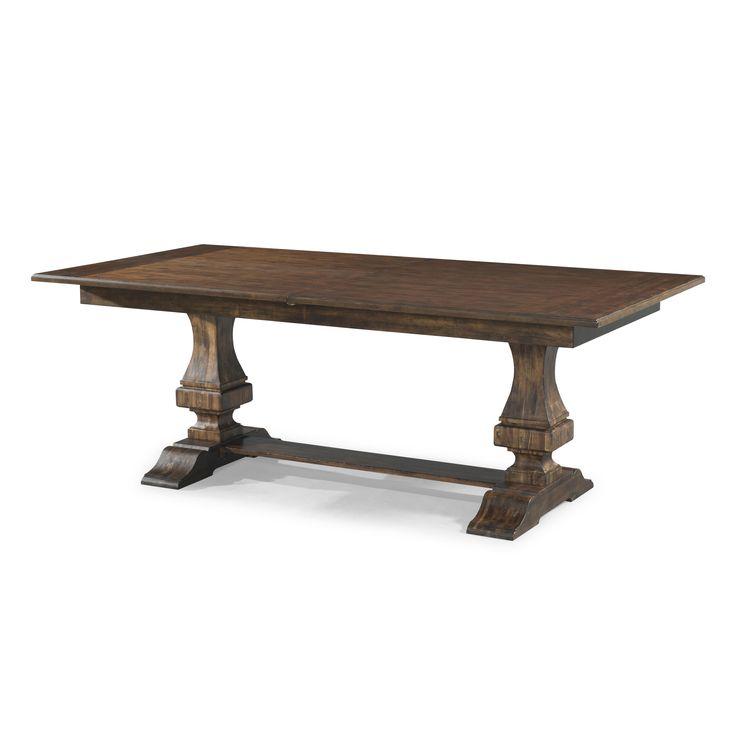 The Trisha Yearwood Home Trishau0027s Trestle Table With 18 Inch Leaf By Trisha  Yearwood Home Collection