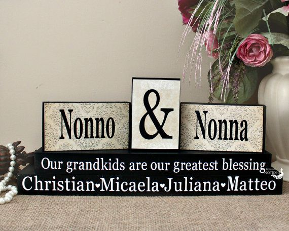 Nonna and Nonno Personalized Gift Grandparents by TimelessNotion