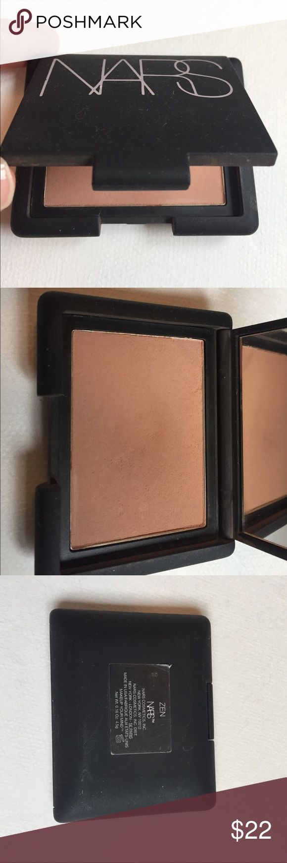 NARS Zen blush bronzer This NARS Zen blush bronzer can be used as a blush or as a super natural bronzer. This gorgeous shade looks naturally sun kissed without those orangey undertones of other bronzers. This item has been gently used 3-4 times. Grab this bronzer just in time for summer! NARS Makeup Bronzer
