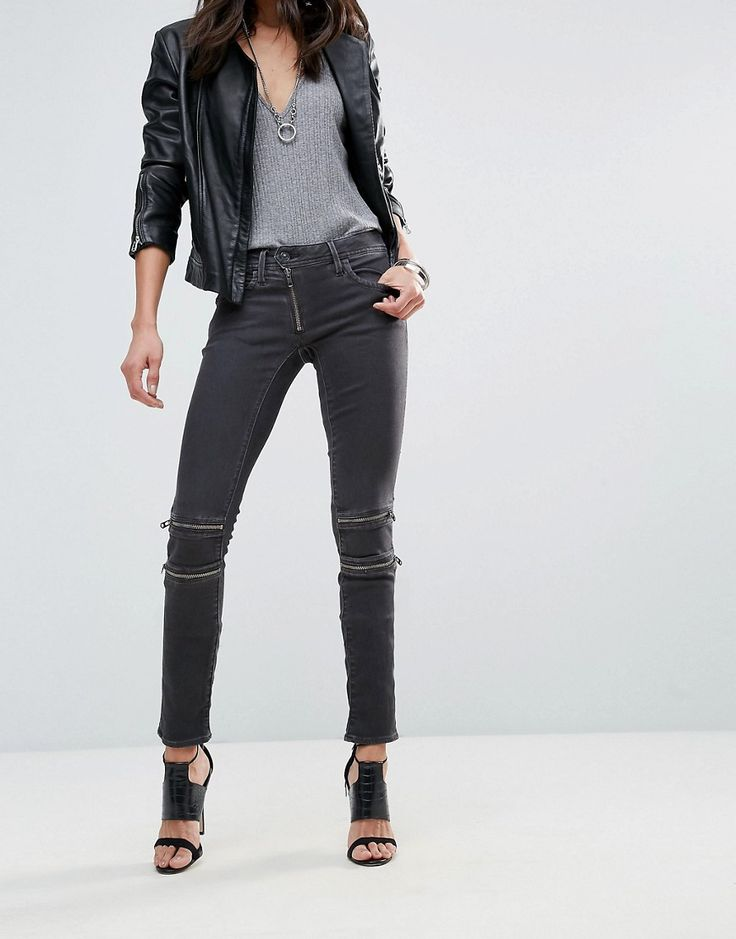 G-Star Lynn Custom Mid Skinny Jeans - Black