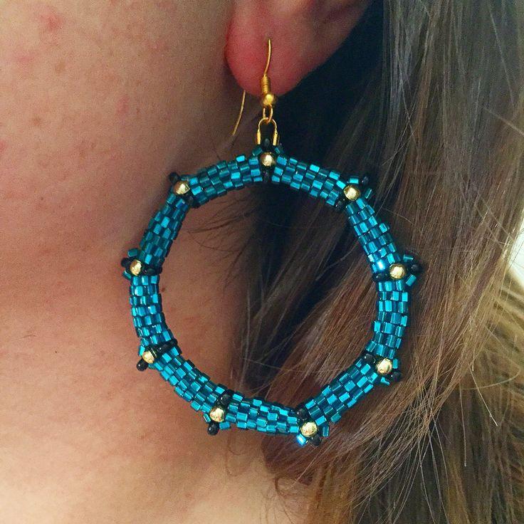 Circle peyote earrings