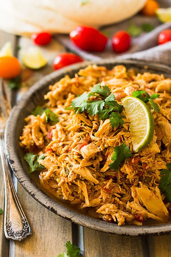 This easy Slow Cooker Shredded Mexican Chicken is a great base recipe to use for tacos, enchiladas, nachos, burritos, salads or just serve it over rice.