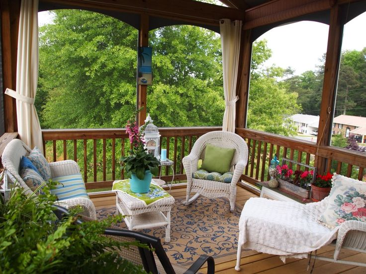 Porch Remodeling Ideas Extraordinary With Beautiful White Rattan Modern And Elegant