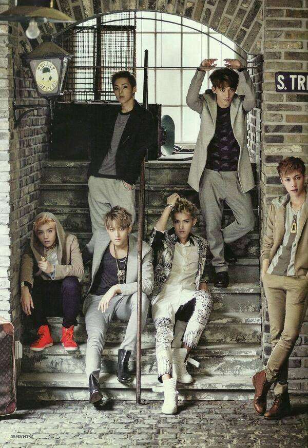 EXO for Men's Style September Issue (EXO-M is shown)