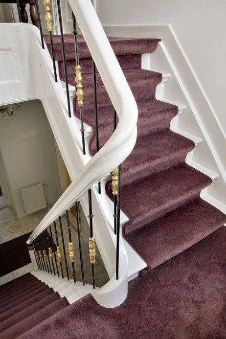 Wooninspiratie tapijt op de trap