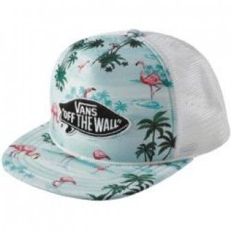 Gorra Plana Vans estampado tropical