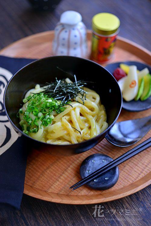 釜玉うどんの3箇条 - Japanese Kamatama Udon : egg,soisauce and UDON noodles.