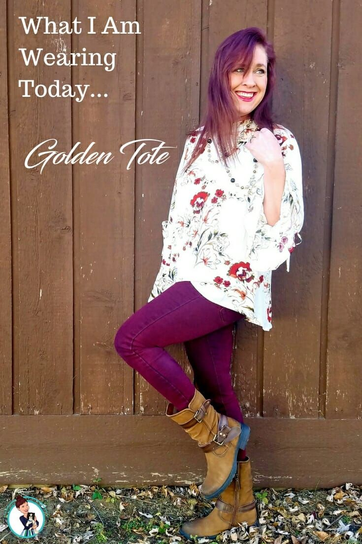 Golden Tote What I Am Wearing Today. The most fun way to combine two of your favorite things: Fashion and Surprises! You HAVE to try this! #OOTD #fashion #style #goldentote  via @FashionBeyond40