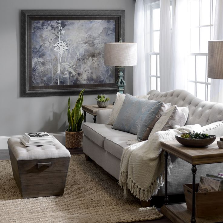 complete your living room look with wall art in a