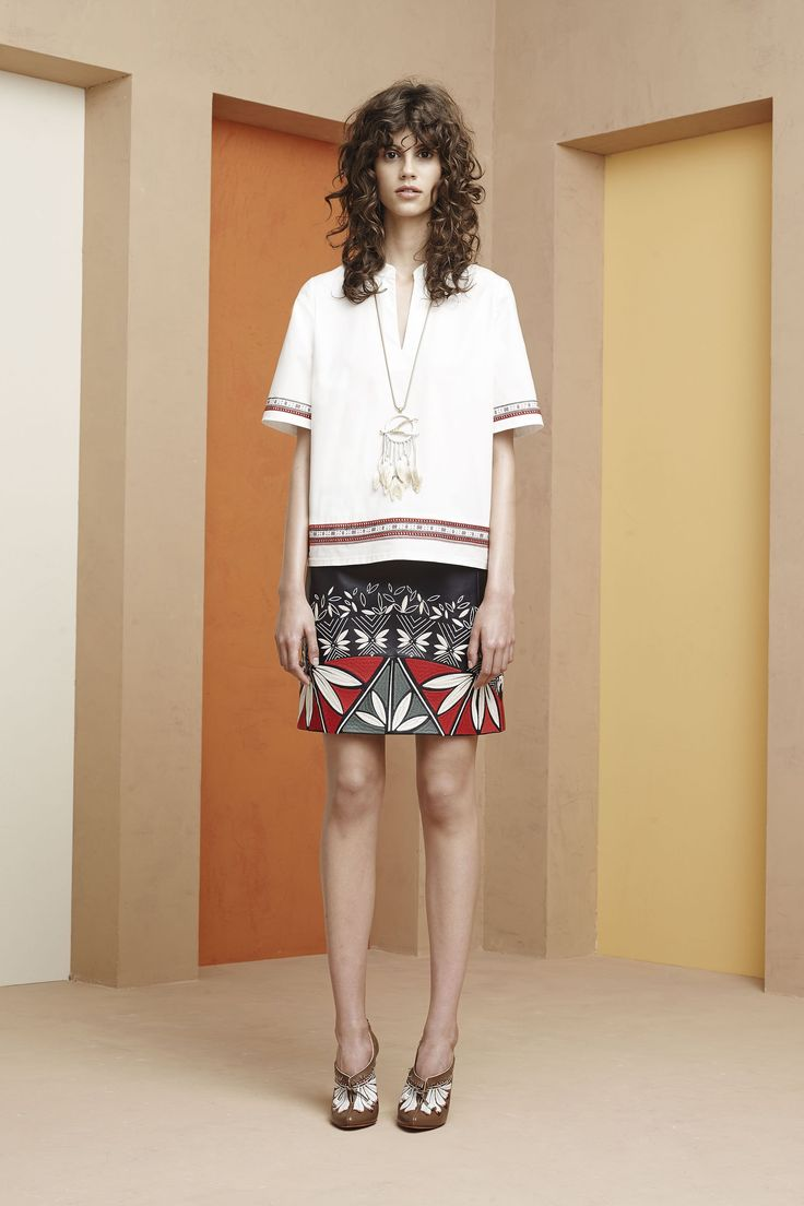 See all the runway and model photos from the Tory Burch Resort 2016  collection.