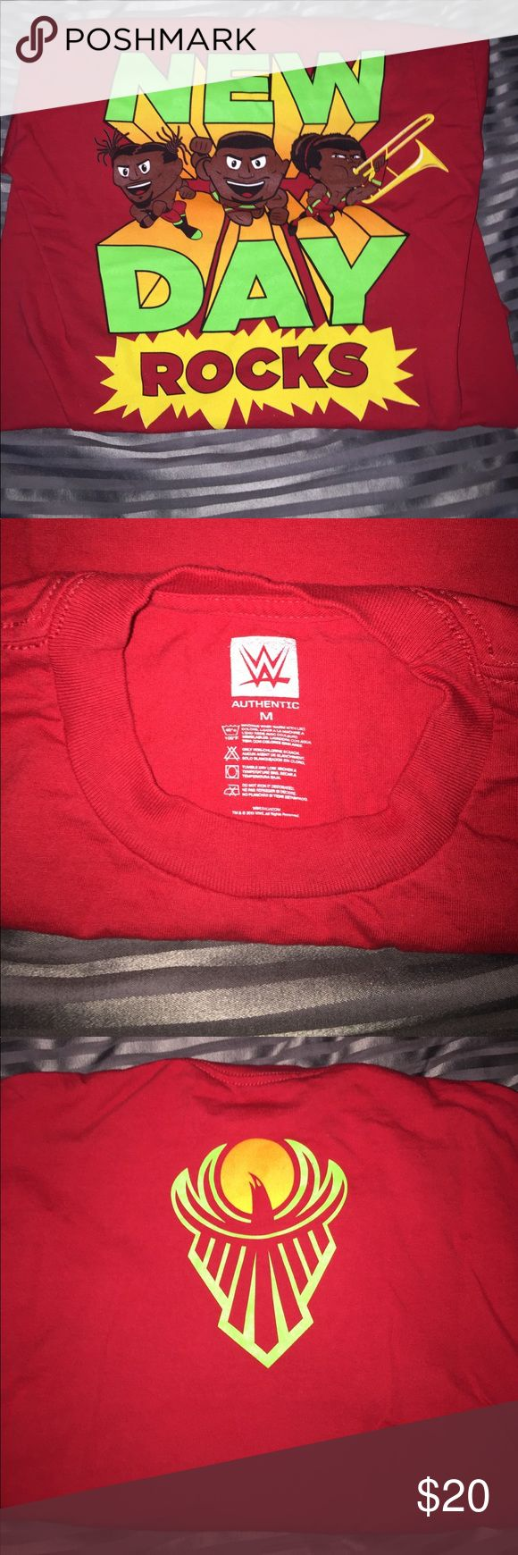 WWE New Day Rocks medium shirt This is an authentic wwe new day rocks special edition shirt size medium! Comes from smoke and pet free home! WWE Shirts Tees - Short Sleeve
