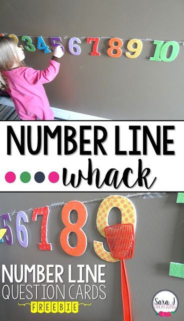 Number Line Game   Number Line Whack is a fun way to get kids up and moving but build their number sense skills at the same time.
