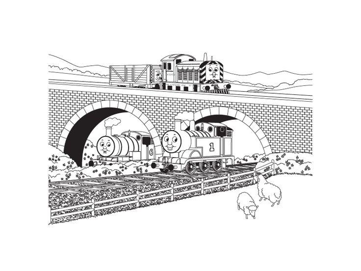 percy travis de trein kleurplaten trein