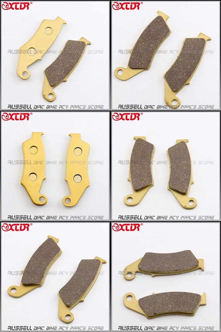 [Visit to Buy]  Front Brake Pads For Honda CR125 CR250 CRF250R CRF250X CRF450R CRF450X CRF230F NR400 Pit Bike ATV TRX 450 700 #Advertisement