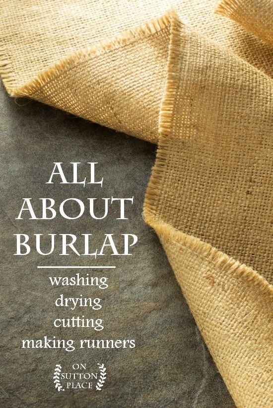 How to prepare burlap and then cut it so it's totally straight, plus 3 DIY burlap table runners that anyone can do. No sewing required!