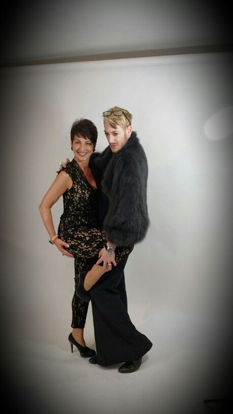 Our stylist Lewis and I at the photoshoot yesterday for Mumpreneur