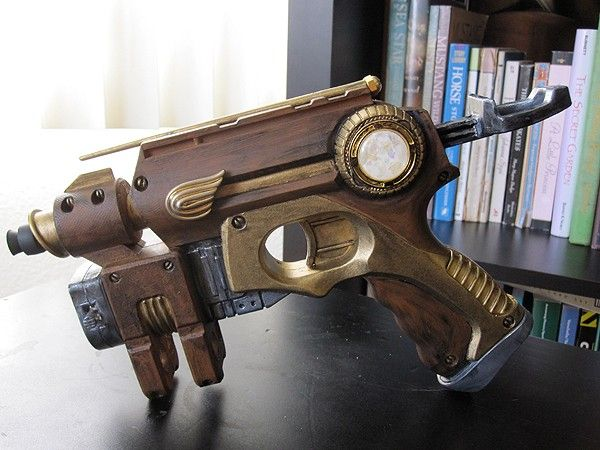 Nerf guns are a favorite among steampunk enthusiasts, as they can be modified in so many ways. With a bit of creativity, time, and effort, a standard Nerf gun can become an affordable and awesome looking steampunk prop. They can be used for fancy ...
