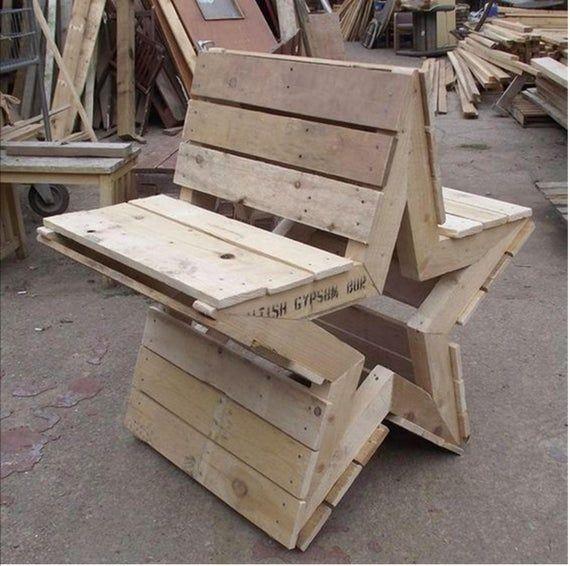 Garden Bench Plan Pallet Bench Plan Wood Bench Plan Rustic Etsy Wood Bench Plans Pallet Furniture Plans Diy Pallet Furniture