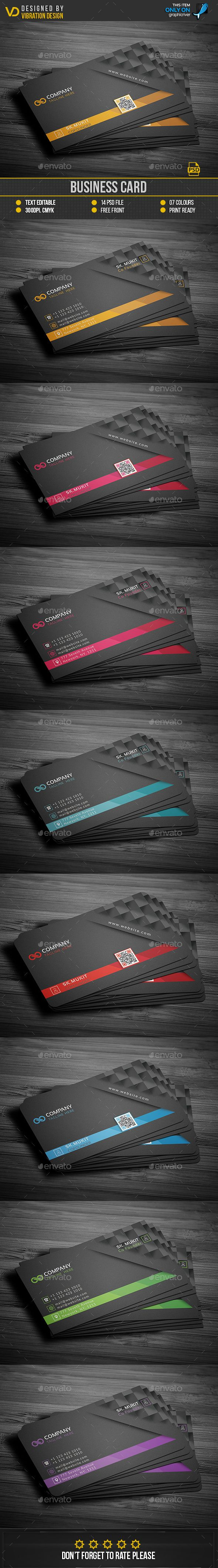 #Business #Card - Business Cards Print #Templates Download here: https://graphicriver.net/item/business-card/19222978?ref=alena994