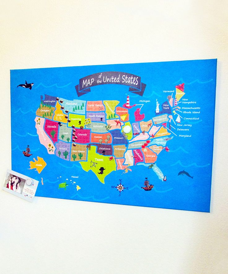 Map Usa States Abbreviations%0A This Kids USA Map Magnetic Bulletin Board by Home Magnetics is perfect    zulilyfinds