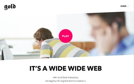 Gold Interactive #webdesign #inspiration #UI #Clean #Responsive Design #CSS3 #Fullscreen #HTML5 #Design #Black #White #Pink