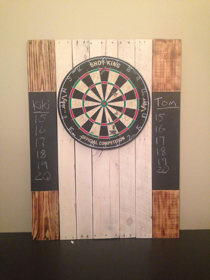Reclaimed Dartboard Backboard For A Clients Christmas