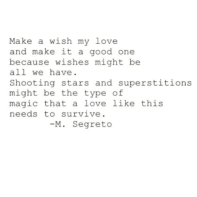 Mia Segreto — #50 |Make a Wish| #love #lovequote # ...