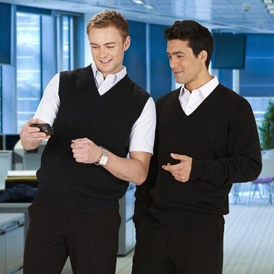 Mens V Neck Vest Min 25 - 50/50 Wool Acrylic Fabric, Design Easy Fit, 12 Gauge Fabric. http://www.promosxchange.com.au/mens-neck-vest/p-11095.html