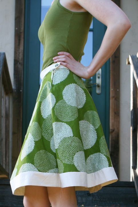 One Hour Skirt - clever and pretty :)