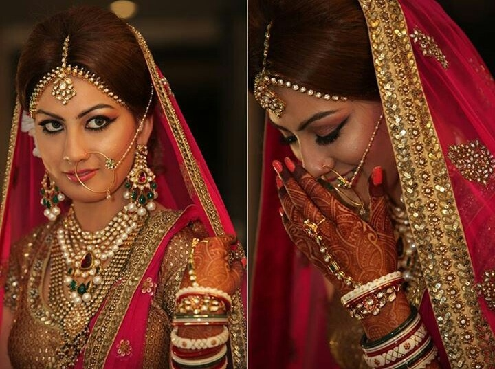 Indian bride. Wedding jewellery