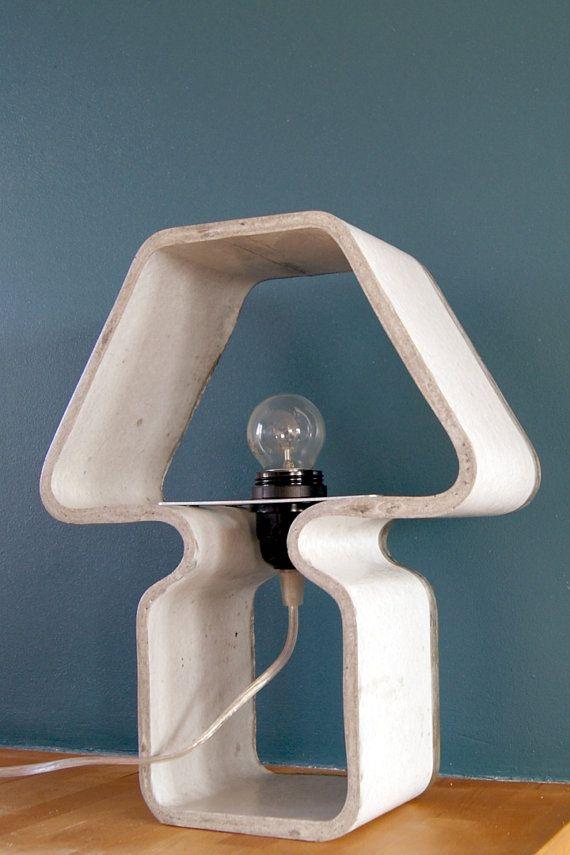 Lampe en béton by SillyCa on Etsy, €90.00