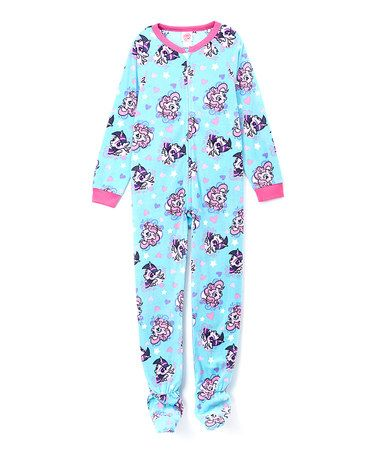 Another great find on #zulily! Turquoise & Pink My Little Pony Footie - Girls by My Little Pony #zulilyfinds