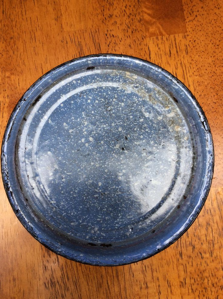 Antique / Vintage Blue Pie Pan / Plate / Primitive Kitchen Decor / Rustic/ Cookware by MargiesCoolStuff on Etsy