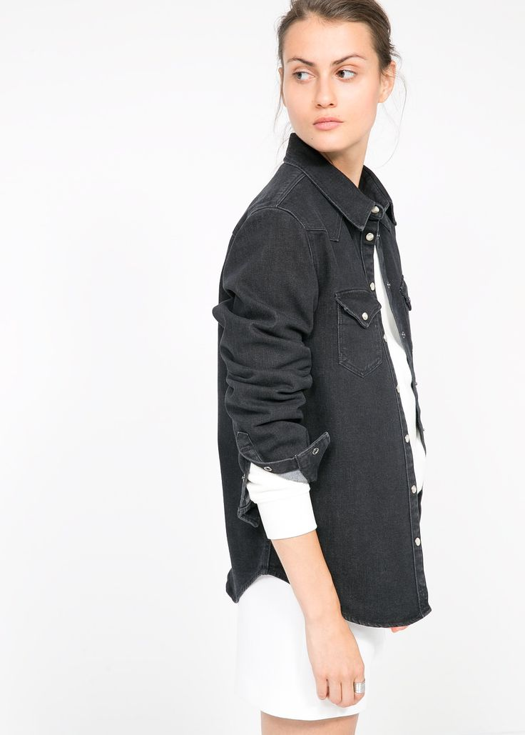 Black denim shirt - Mango or Grainline Studio Archer